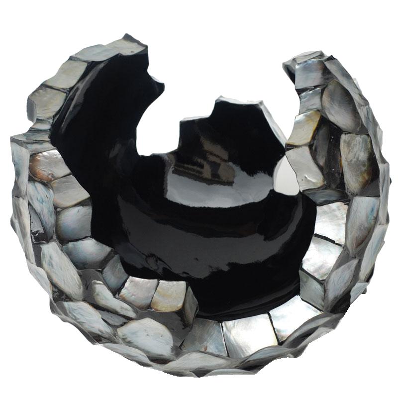 Schelpenvaas Broken Bowl - Zilver