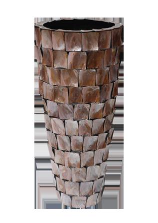 Schelpenvaas Staand - Brons 120cm