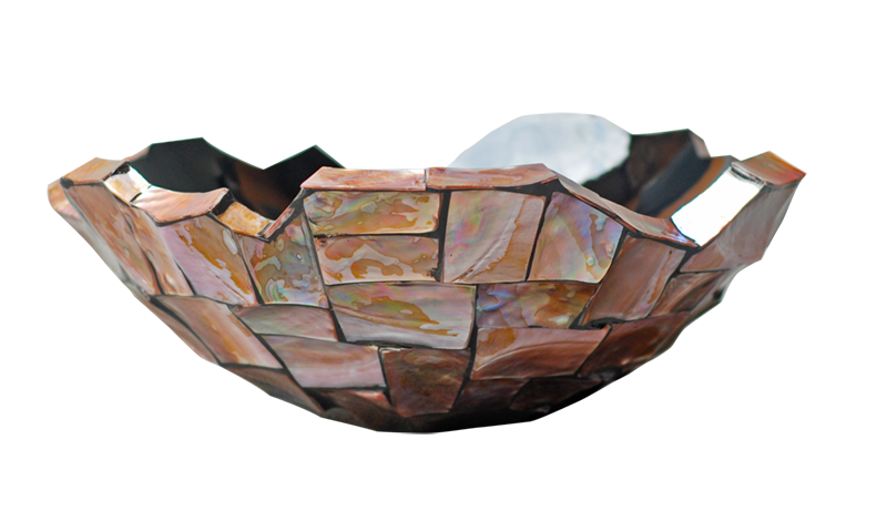 Schelpenvaas Ornament - Brons